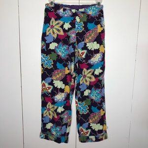 Nick & Nora colorful leaf print pajama bottoms, S